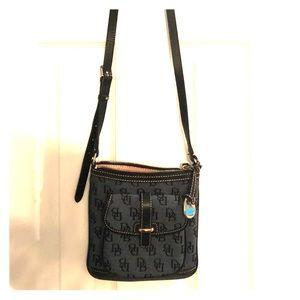 Dooney & Burke navy blue cross body purse